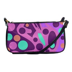 Purple and green decor Shoulder Clutch Bags