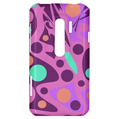 Purple and green decor HTC Evo 3D Hardshell Case