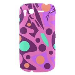 Purple and green decor HTC Desire S Hardshell Case