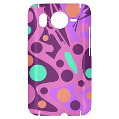 Purple and green decor HTC Desire HD Hardshell Case