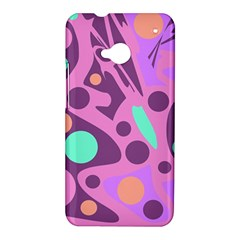 Purple and green decor HTC One M7 Hardshell Case