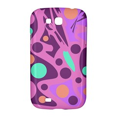 Purple and green decor Samsung Galaxy Grand GT-I9128 Hardshell Case