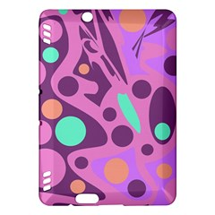 Purple and green decor Kindle Fire HDX Hardshell Case