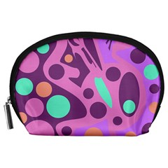 Purple and green decor Accessory Pouches (Large)