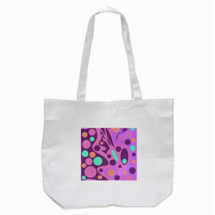 Purple and green decor Tote Bag (White)