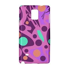 Purple and green decor Samsung Galaxy Note 4 Hardshell Case
