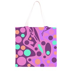 Purple and green decor Grocery Light Tote Bag