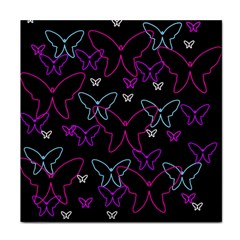 Purple butterflies pattern Tile Coasters