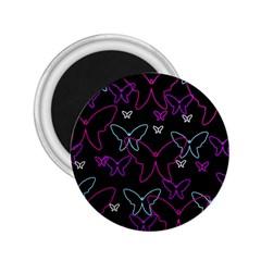 Purple butterflies pattern 2.25  Magnets