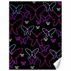 Purple butterflies pattern Canvas 18  x 24