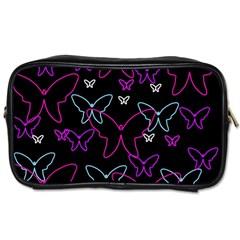 Purple butterflies pattern Toiletries Bags 2-Side