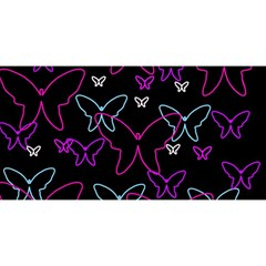 Purple butterflies pattern YOU ARE INVITED 3D Greeting Card (8x4)