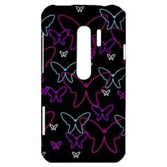 Purple butterflies pattern HTC Evo 3D Hardshell Case