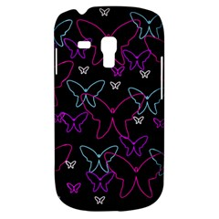 Purple butterflies pattern Samsung Galaxy S3 MINI I8190 Hardshell Case