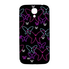 Purple butterflies pattern Samsung Galaxy S4 I9500/I9505  Hardshell Back Case