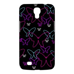 Purple butterflies pattern Samsung Galaxy Mega 6.3  I9200 Hardshell Case