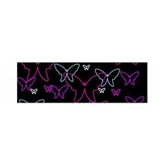 Purple butterflies pattern Satin Scarf (Oblong)