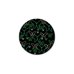 Green butterflies Golf Ball Marker
