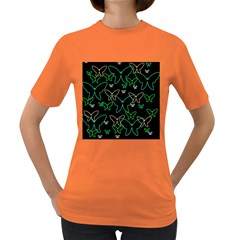 Green butterflies Women s Dark T-Shirt