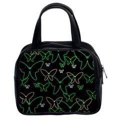 Green butterflies Classic Handbags (2 Sides)