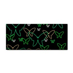 Green Butterflies Hand Towel
