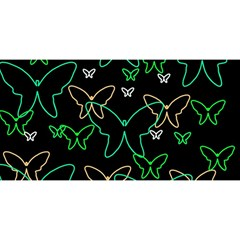 Green butterflies YOU ARE INVITED 3D Greeting Card (8x4)