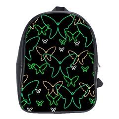Green butterflies School Bags (XL)