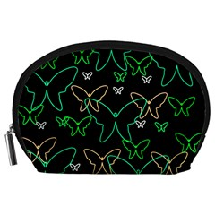 Green butterflies Accessory Pouches (Large)