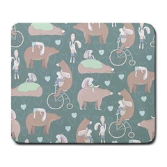 Bear Ruding Unicycle Unique Pop Art All Over Print Large Mousepads
