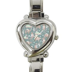 Bear Ruding Unicycle Unique Pop Art All Over Print Heart Italian Charm Watch
