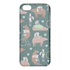 Bear Ruding Unicycle Unique Pop Art All Over Print Apple iPhone 5C Hardshell Case