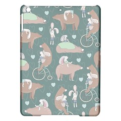 Bear Ruding Unicycle Unique Pop Art All Over Print Ipad Air Hardshell Cases