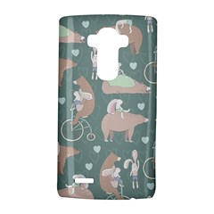 Bear Ruding Unicycle Unique Pop Art All Over Print LG G4 Hardshell Case