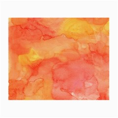 Watercolor Yellow Fall Autumn Real Paint Texture Artists Small Glasses Cloth