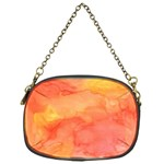 Watercolor Yellow Fall Autumn Real Paint Texture Artists Chain Purses (One Side)  Front