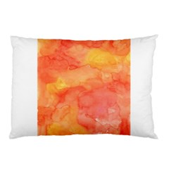 Watercolor Yellow Fall Autumn Real Paint Texture Artists Pillow Case (two Sides)