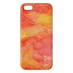 Watercolor Yellow Fall Autumn Real Paint Texture Artists Apple iPhone 5 Premium Hardshell Case