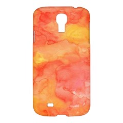 Watercolor Yellow Fall Autumn Real Paint Texture Artists Samsung Galaxy S4 I9500/I9505 Hardshell Case