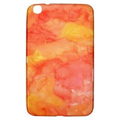Watercolor Yellow Fall Autumn Real Paint Texture Artists Samsung Galaxy Tab 3 (8 ) T3100 Hardshell Case