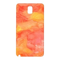 Watercolor Yellow Fall Autumn Real Paint Texture Artists Samsung Galaxy Note 3 N9005 Hardshell Back Case