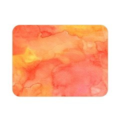 Watercolor Yellow Fall Autumn Real Paint Texture Artists Double Sided Flano Blanket (mini)