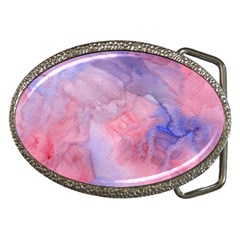 Galaxy Cotton Candy Pink And Blue Watercolor  Belt Buckles