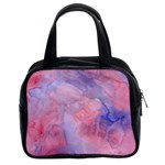 Galaxy Cotton Candy Pink And Blue Watercolor  Classic Handbags (2 Sides) Front