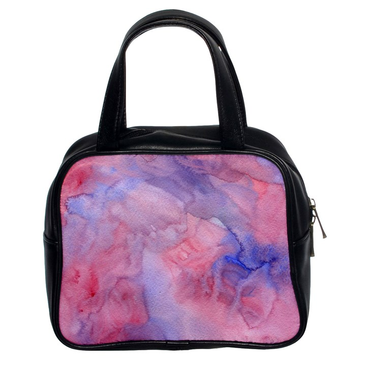 Galaxy Cotton Candy Pink And Blue Watercolor  Classic Handbags (2 Sides)