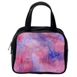 Galaxy Cotton Candy Pink And Blue Watercolor  Classic Handbags (2 Sides) Back