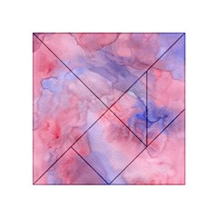 Galaxy Cotton Candy Pink And Blue Watercolor  Acrylic Tangram Puzzle (4  x 4 )