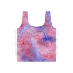 Galaxy Cotton Candy Pink And Blue Watercolor  Full Print Recycle Bags (S)