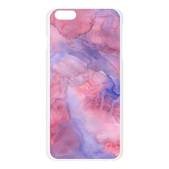 Galaxy Cotton Candy Pink And Blue Watercolor  Apple Seamless iPhone 6 Plus/6S Plus Case (Transparent)