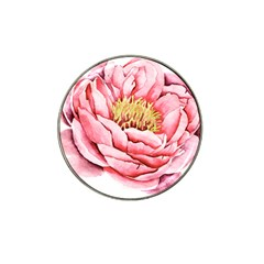 Large Flower Floral Pink Girly Graphic Hat Clip Ball Marker (4 pack)