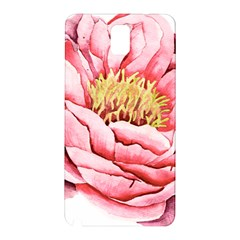 Large Flower Floral Pink Girly Graphic Samsung Galaxy Note 3 N9005 Hardshell Back Case